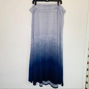 Lularoe blue ombré dipped plus size maxi skirt